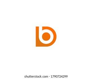 Db / bD / b initial letter logo design icon