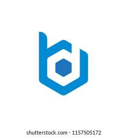 DB BD B  letter logo vector