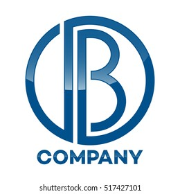 DB company linked letter logo