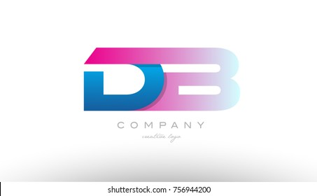 db d b design of alphabet letter combination with pink and blue color suitable as a logo for a company or business
