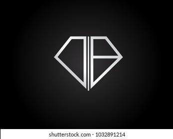 DB diamond shape silver color design