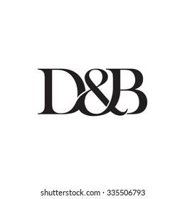 D&B Initial logo. Ampersand monogram logo