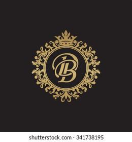 DB initial luxury ornament monogram logo
