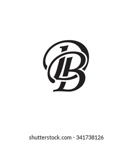 DB initial monogram logo