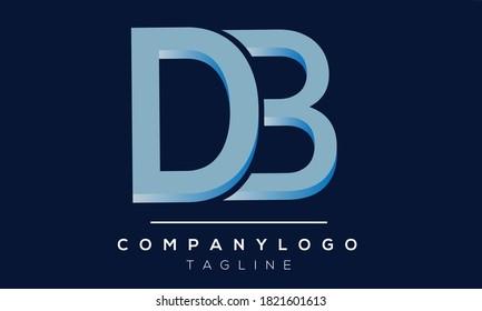 DB initials monogram letter text alphabet logo design
