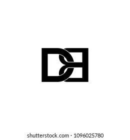 db letter connected concept logo