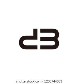 db letter vector logo