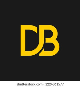 DB logo designed with letter D B in vector format.