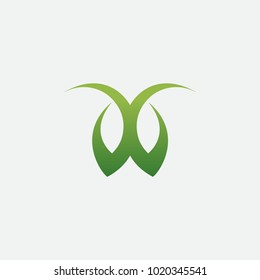 DB nature logo abstract. vector alphabet
