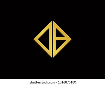 DB square shape Gold color logo