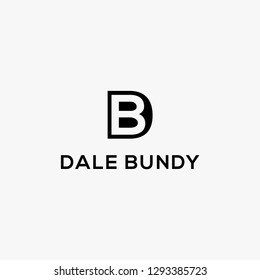 DB/BD d and b initial letter logo