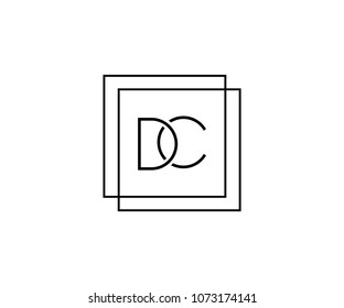 DC or CD company linked letter logo