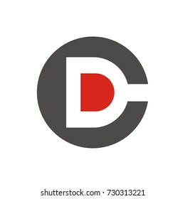 DC or CD initial letter logo design template vector