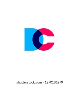dc cd letter logo vector icon lettermark sign