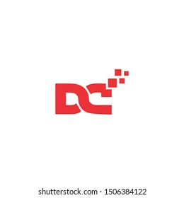 dc cd letter logo vector icon letter mark sign