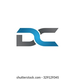 DC company linked letter logo blue