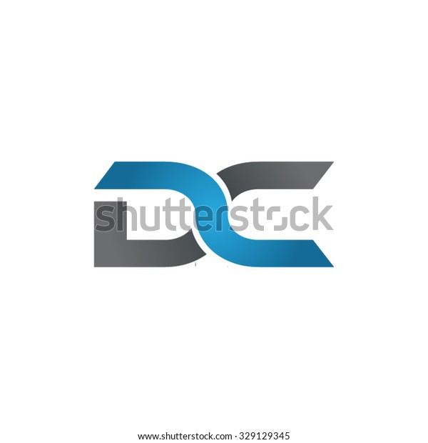 DC company linked letter logo blue