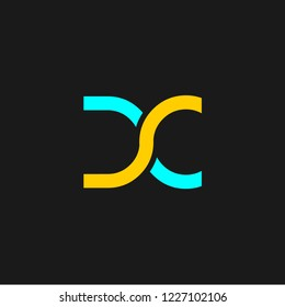 DC or D Cletter alphabet logo design in vector format.