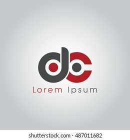 dc initial letter linked lowercase logo. d and c vector template design.