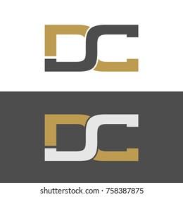 DC initial letters elegant logo, Modern Logo Design