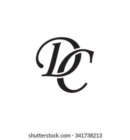 DC initial monogram logo