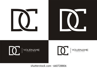 DC Letter Combo logo for your business