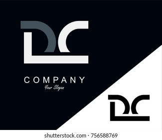DC Letter Logo Design Template