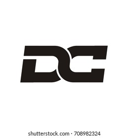 DC letter logo design vector