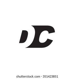 DC negative space letter logo