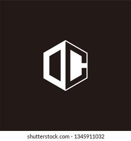 DC oe OC Logo Initial Monogram Negative Space Designs Templete