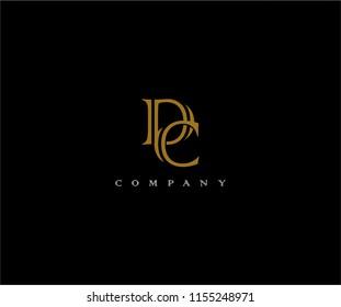 DC Vintage Monogram Typeface Linked Logo