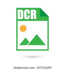 DCR Color File Icon, Flat Design Style
