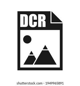 DCR File Icon, Flat Design Style