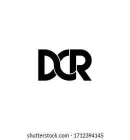 dcr letter original monogram logo design
