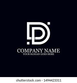 DD creative logo inspiration, simple initial logo vector