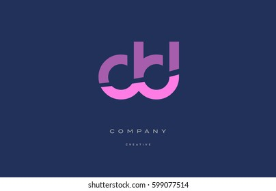 dd d d  pink blue pastel modern abstract alphabet company logo design vector icon template