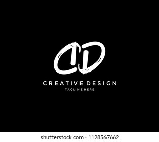 DD Grunge Brush Letter Logo Design