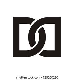 DD initial letter logo design template vector