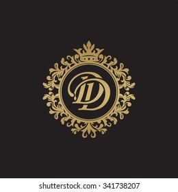 DD initial luxury ornament monogram logo
