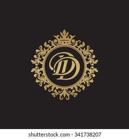 DD initial luxury ornament monogram logo