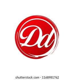 DD initial splash logo template vector