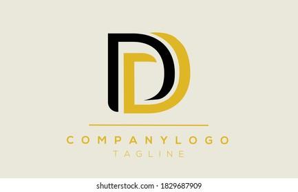 DD initials monogram letter logo design