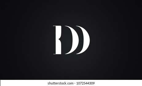 DD Letter Logo Design Template Vector