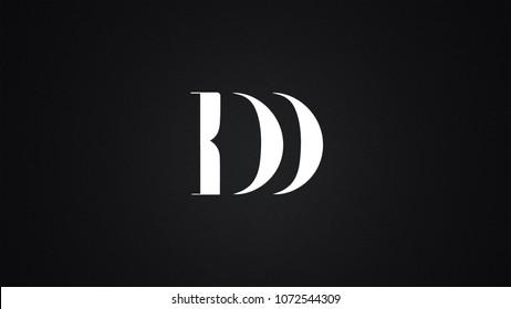 DD Letter Logo Design Template Vector