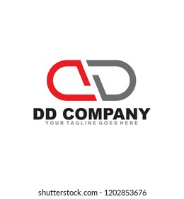 DD letter logo design vector template