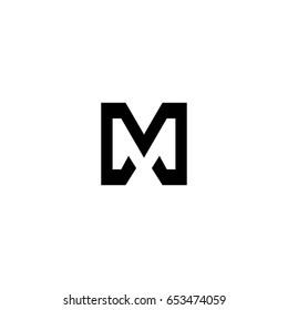 dd letter logo. m letter logo