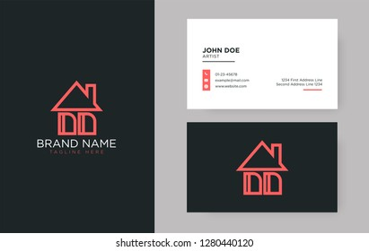 DD Letter Real Estate Logo Design - Real estate logo