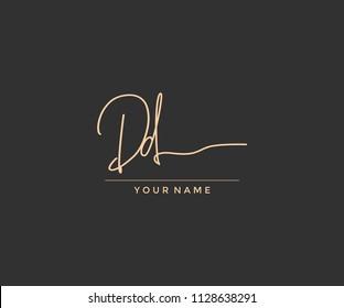 DD Letter Script Calligraphy Signature Logo