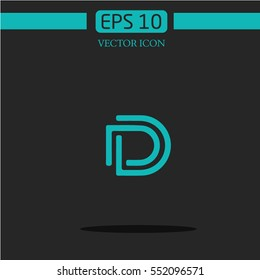 DD lletter logo. geometry. abstraction DD. abbreviation.icon vector.geometry logo