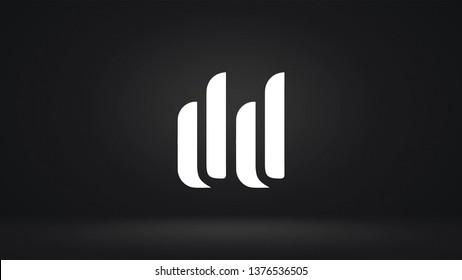 DD logo design template vector letter